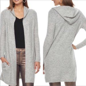 Juicy Couture Long Hooded Gray Cardigan XS